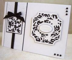Tonic die/ embossing folder idea from Edna at Another Day, Another Card blog.