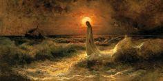 Christ Walking on Water - Julius Von Klever 18x36