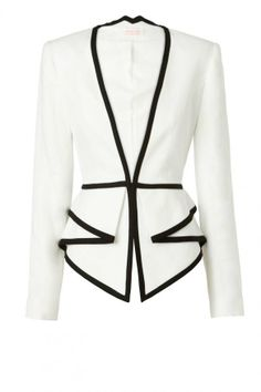 Nappalra, elegáns, blézer, Sass & Bide Two Dimensions Tailored Jacket With Peplum Detail Business Outfit, Business Casual, Tailored Jacket, Jackett, Work Attire, Mode Style, Passion For Fashion, Mantel, Work Wear
