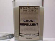 Lavender Sage 6.2 oz Scented Candle Soy Ghost by NolaAndNeighbors