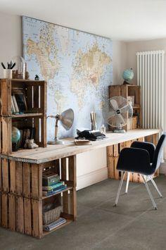 Tilestone Normandy - Carrelage céramique sol effet ciment dans  une espace de bureau style industrielle