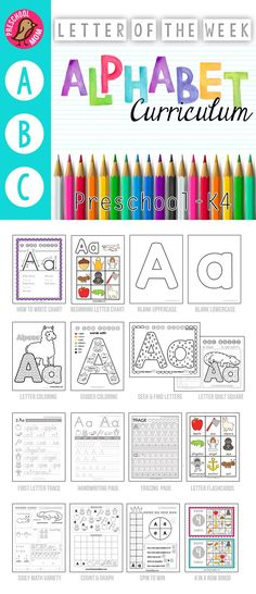Letter of the Week Preschool Curriculum Page Alphabet Curriculum. No Prep Letter of the Week Preschool and Alphabet Binder. Worksheets, Games, Math and more for 3 or 4 day a week schedule. Preschool Letters, Letter Activities, Preschool At Home, Learning Letters, Preschool Lessons, Preschool Kindergarten, Preschool Activities, Kids Learning, Home Preschool Schedule