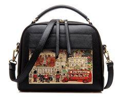 ee627adbce 2017 Women Handbag Ladies Leather Handbags Fashion Oil Picture Pattern  Luxury Women Bags Fasmous Design Tote Bolsas Bag LS8235 l