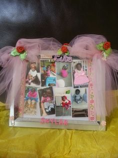 1st Birthday picture frame that I made.