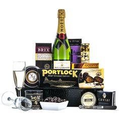 Product Search - Gifts And Gift Baskets For All Occasions Champagne Gift Baskets, Salmon Caviar, Mothers Day Baskets, Champagne Toast, Gourmet Gift Baskets, Moet Chandon, Smoked Salmon, Happy Shopping, Unique Gifts