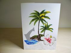 Hand made fabric greeting card tropics by Lovepaperscissors14
