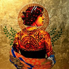 i am immediately _addicted_ to this Artist's murals.  Ananda Nahu is a genius at giving homage to the beautiful women of our various heritages.