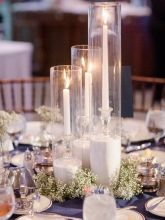 tall candles in Glass Cylinders