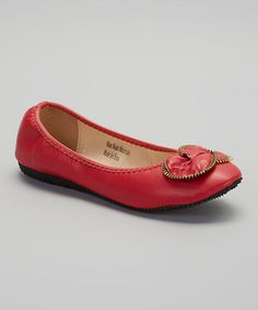 Another great find on #zulily! Red Zipper Flat #zulilyfinds