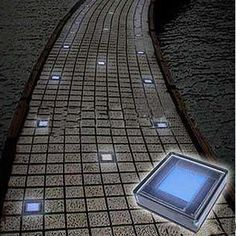 Outdoor Solar White Brick Garden Lights with 6 LEDs Solar Garden Lanterns, Solar Pathway Lights, Solar Lights, Walkway Lights, Pathway Lighting, Solar Led, Landscape Lighting, Outdoor Lighting, Solar House Numbers