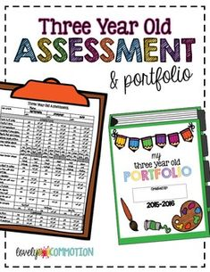 Three Year Old Assessment and Portfolio!  From Lovely Commotion