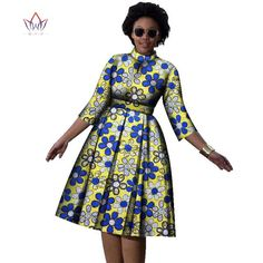 Decoration Zippers Neckline ONeck Estimated Delivery Dresses Length MidCalf Waistline Empire Sleeve Style Regular Silhouette ALine Pattern Type Print Sleeve Length(cm) Three is part of African dress - African Fashion Ankara, African Fashion Designers, Latest African Fashion Dresses, African Print Fashion, Africa Fashion, African American Fashion, African Style, Short African Dresses, African Print Dresses