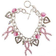 Crystal Breast Cancer Awareness Bracelet | FaveCrafts.com