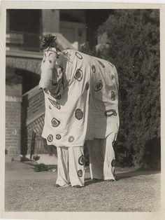 """A """"Spotted Horse"""" - Vernacular Photograph in Costume, via Flickr."""