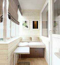 """Маленькая лоджия в типовой квартире., автор Нэлли Левина, конкурс """"лоджия, балкон, терраса""""   PINWIN - конкурсы для архитекторов, дизайнеров..."""