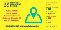 ¡Recordad que mañana estaremos como patrocinadores en el Inbound Marketing Day de Barcelona! #AlwaysBeImproving