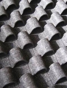 Fabric Manipulation felt curls texture