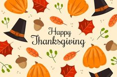 Download Thanksgiving Background Hand Drawn Design for free