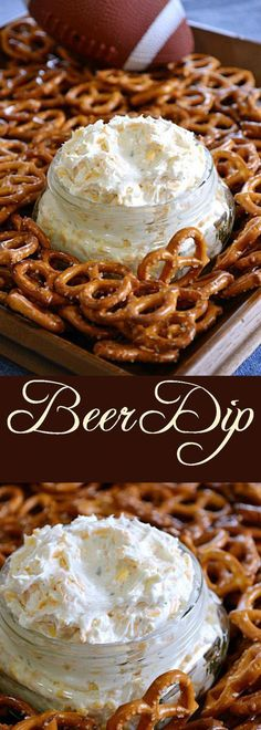 Beer Dip Football season is here and it's time for delicious tailgate snack! This homemade Beer Dip is easy to whip together and perfect for cheering on your favorite team. Dip pretzels, veggies or even pita in for the perfect Sunday Football Game! Cold Appetizers, Appetizer Dips, Appetizer Recipes, Snack Recipes, Cold Dip Recipes, Tailgate Appetizers, Appetizer Dessert, Italian Appetizers, Easy Appetizers For Party