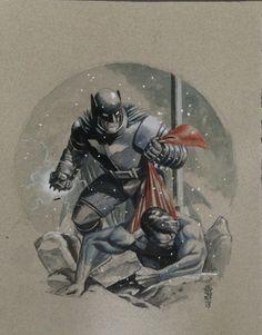 Dark Knight Falls by J.G Jones Comic Art