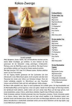 Kokos Schaumkuss Zwerge | Das Knusperstübchen
