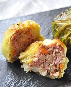 Recipe: Stuffed Savoy Cabbage with Beef, Cheese, Ham and Vegetables