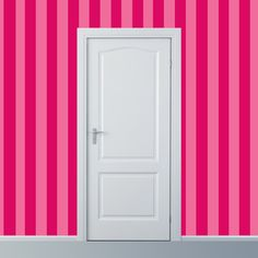 Removable Wallpaper  Wide Stripe in Pinks  2 ft by WallpaperDolls, $90.00