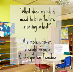 Great resource! What does my children need to know before starting school? A simple answer right from a teacher. Get your preschooler ready for school.