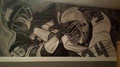 Football player mural Boy Sports Bedroom, Kids Bedroom, Football Players, Bedrooms, Art, Art Background, Soccer Players, Bedroom, Kunst
