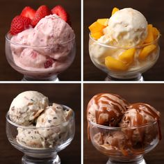 Proper Tasty - Ice Cream 4 Ways from our Brazilian friends. Ice Cream Desserts, Frozen Desserts, Ice Cream Recipes, Frozen Treats, Just Desserts, Dessert Recipes, Proper Tasty, Food Network Recipes, Cooking Recipes