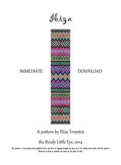 Bead Loom Pattern Seed Bead Loom Patterns Ibiza Style Huichol Native American Southwestern Indian Geometric Ibiza Pattern