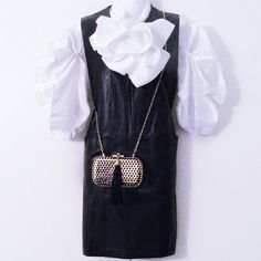 🔲NWT Little White Lies... Callie Dress🔲 Brand new, very stylish black vegan leather dress. Crewneck with 2 front patch pockets and back zip closure. Machine washable. Urban Outfitters Dresses