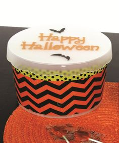 Take a look at this Zigzag Halloween Cookie Tub by Dennis East International on #zulily today!