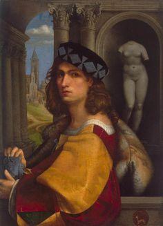 CAPRIOLO, Domenico  [Italian High Renaissance Painter, 1494-1528]  Portrait of a Man1512