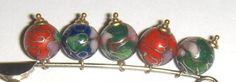 VTG-LOT-5-CLOISONNE-ROUND-LOOSE-BEADS-5mm-3-16-HANGING-DANGLING-LAMPWORK-CHINESE