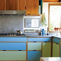 Easy way to refresh bland cabinetry--paint!