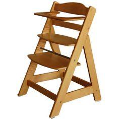 adjustable wooden high chair | wooden highchair free cushion brand new a modern wooden high chair ...