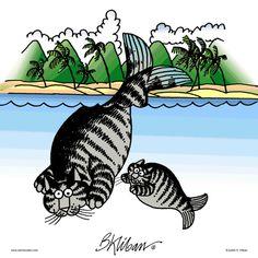 Catfish by B. Crazy Cat Lady, Crazy Cats, I Love Cats, Cool Cats, Catsu The Cat, Les Rats, Kliban Cat, Cat Character, Kinds Of Cats