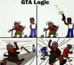 Funny pictures about GTA Logic Keeps On Surprising Me. Oh, and cool pics about GTA Logic Keeps On Surprising Me. Also, GTA Logic Keeps On Surprising Me photos. Funny Gaming Memes, Stupid Funny Memes, Funny Relatable Memes, Gamer Meme, Hilarious Jokes, Video Games Funny, Funny Games, Gta Logic, Gta Funny