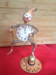 Allen-Cunningham-for-Bethany-Lowe-discontinued-Watch-for-Goblins-Clock-Man Bethany Lowe, Goblin, Lowes, Clock, Artists, Watch, Halloween, Ebay, Decor