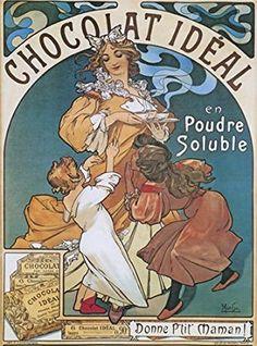 Chocolat Idéal, Alphonse Mucha, 1897