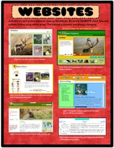 Reindeer Research Resources: A Clickable PDF. Six websites to teach about the reindeer! Just click and you're there :)