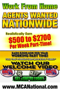 Motor Club Of America is recruiting Independent Agents to introduce their auto club benefits, small business and family protection plans across the United States and Canada. Many people are earning from comfortable paychecks every week while building business to earn long-term residual income.