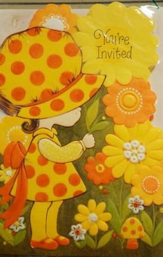 1970's Invitation. Love the colors, love the style