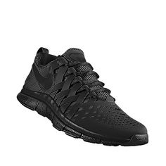 all black nike training shoes