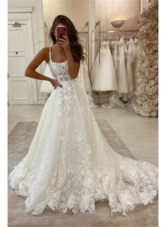 gorgeous gowns Purchase Gorgeous Ball Gown Scoop Neck Open Back Lace Wedding Dresses,Luxurious Wedding wedding dresses, bridal gowns, wedding party dresses, beach wedding d Wedding Dress Train, Cute Wedding Dress, Wedding Dress Trends, Best Wedding Dresses, Corset Wedding Dresses, Wedding Ideas, White Lace Wedding Dress, Lace Bridal Gowns, White Wedding Dresses
