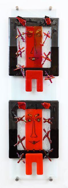 Glas aan de muur: 'I belong to you' Wall Art Designs, Fused Glass, Glass Art, Sculptures, Abstract, Art Walls, Summary, Jar Art, Sculpting
