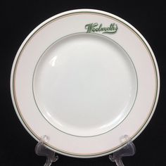 Syracuse Restaurant Ware China Woolworth's 9 Inch Dinner/Luncheon Plate #Syracuse
