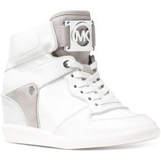 77da03bc0287 Michael Michael Kors Nikko High-Top Sneakers ( 195) ❤ liked on Polyvore  featuring. Wedge Sneakers StyleHidden ...