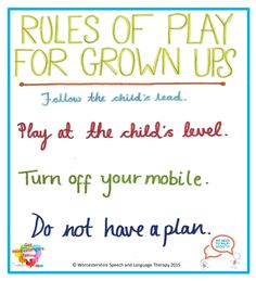 Rules of Play for Grown ups!